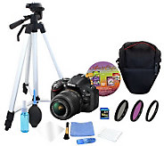 Nikon D5200 18-55mm Lens Kit w/ SD Card, Kit &Software - E270589