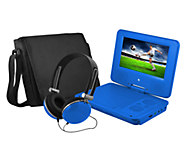 Ematic 7 Portable DVD Player with Headphones &Carrying Bag - E277489