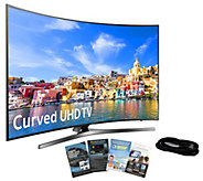 Samsung 49 Curved Smart 4K Ultra HDTV w/ HDMICable, App Pack - E288989