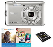 Nikon Coolpix A300 20MP Digital Camera with Wi-Fi, 8X Zoom - E290689
