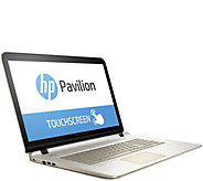 HP 17 GoldLuxe Touch Laptop AMD A10, 8GB, 1TB w/ Software & LifeTimeTech - E229990