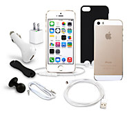 Apple iPhone 5s 16GB Unlocked Smartphone w/ Case & Accessories - E276590