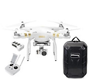 DJI Phantom 3 4K Drone with Extra Battery & Backpack - E289090