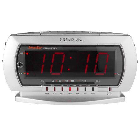 emersonsmartset jumbo display dual alarm clock radio w touchlesssnooze page 1. Black Bedroom Furniture Sets. Home Design Ideas