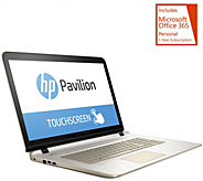 HP 17 GoldLuxe Touch Laptop AMD A10, 8GB, 1TB w/ Support & MS Office 365 - E229991