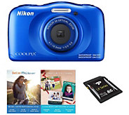 Nikon Coolpix W100 Waterproof Digital Camera with 1080p Video - E290691