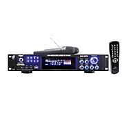 Pyle PWMA1003T 1000W Hybrid Pre-Amplifier w/ Dual Wireless Mi - E252692