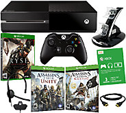 Xbox One 500GB Console with 2 Assassins Creed Games & Accessories - E226893