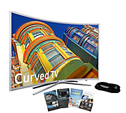 Samsung 55 Curved Smart LED HDTV with HDMI Cable & App Pack - E288993