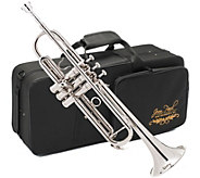 Jean Paul USA Nickel Finish Trumpet with Contoured Case - E290493