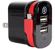 ChargeIt! Dual-Output Wall Charger with Micro USB Cable - E283494