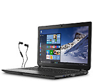 Shps 8/26 Toshiba 15.6 Win 10 Laptop 4GB 750GBHD w/ Earbuds - E284094