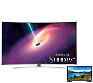 Samsung 55 LED 4K SUHD Curved Smart TV w/ 32LED HDTV - E287094
