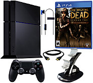 Sony Ps4 System w/ The Walking Dead Season 2 & Dual Charger - E227096