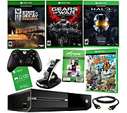 Xbox One 500GB Gears of War Bundle with 3 Game Voucher & Accessories - E229196