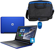 HP 15 Pavilion Touch Laptop AMD A10, 8GB, 1TB, Bag, Mouse & LifeTimeTech - E229996