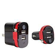 ChargeIt! Dual Output Car & Wall Charger w/ Lightning Cable - E283496