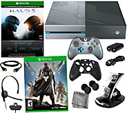 Xbox One 1TB Limited Edition HALO 5 Bundle wit h Destiny - E285196