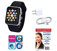 Apple Stainless Steel Watch 38mm, Sport Band &Tech Support - E285796
