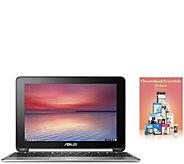 ASUS 10.1 Touchscreen Chromebook Flip - Quad-Core, 4GB RAM - E287796
