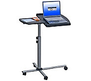 Techni Mobili Adjustable Laptop Cart on Wheels - E267597