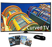 Samsung 55 Curved Smart 4K Ultra HDTV w/ HDMICable, App Pack - E288997