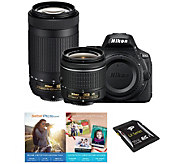 Nikon D5600 24.2MP DSLR Camera w/ 18-55mm & 70-300mm ED Lenses - E290697