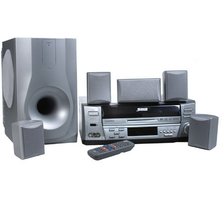 Audiovox 350 Watt Home Theater System with 5-Disc DVD Player& Remote