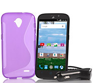 TracFone ZTE Stratos Android Smartphone with 1200 Minutes & Accessories - E229398