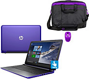 HP 15 Pavilion Touch Laptop AMD A10, 8GB, 1TB, Bag, Mouse & Lifetime Tech - E229698