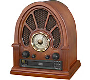 Innovative Technology Victrola Vintage Radio with CD Player - E291698