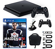 PlayStation 4 1TB Slim Console with Madden NFL18, Accessories - E292398