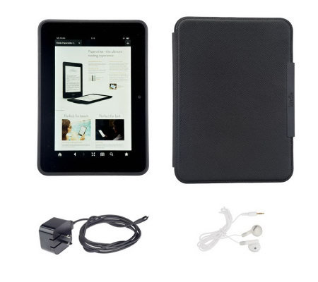 "Kindle Fire HD 7"" 32GB WiFi Tablet with Charger, Case & Earbuds"