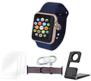 Apple Watch Series 1 38mm or 42mm w/ Extra Band & Accessories - E231599