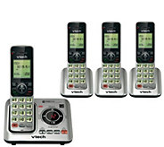 Vtech Four-Handset Cordless Answering System w/Caller ID - E286899