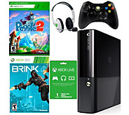 Xbox 360 E 4GB Bundle with Peggle 2, Brink, andAccessories - E288799
