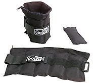 GoFit GF-5W Ankle Weights (Adjusts from .5 lb to 5 lbs) - F195500