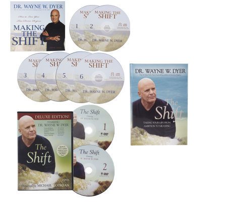 "Dr. Wayne Dyer ""The Shift"" Book, 6 CD Set and 2 DVD Set"