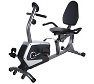 Sunny Health & Fitness Easy Adjustable Seat Recumbent Bike - F250401