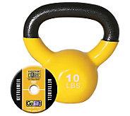 GoFit Kettelbell & Iron Core Training DVD (10 lbs/Yellow) - F195404