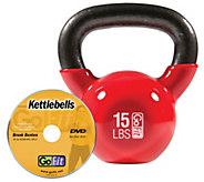 GoFit Kettelbell & Iron Core Training DVD (15 lbs/Red) - F195406