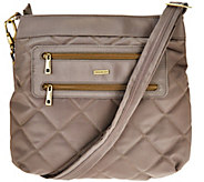 Travelon Anti-Theft Quilted Two Zip Crossbody Bag with RFID - F12007