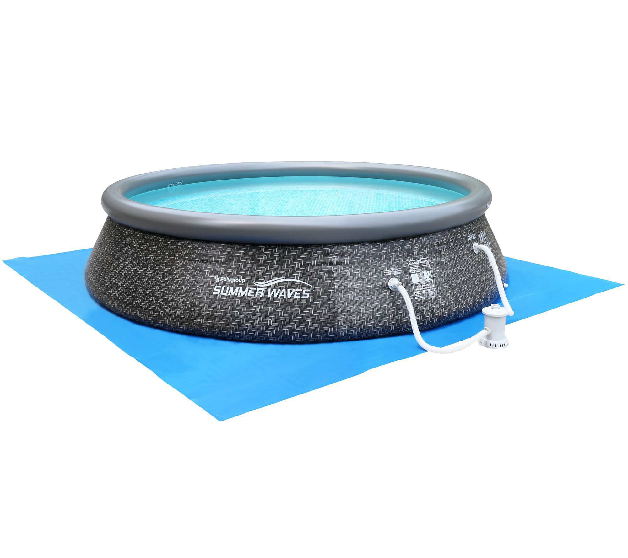 Quick set inflatable 12 39 swimming pool with led duck and pump page 1 Inflatable quick set swimming pool