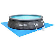 Quick Set Inflatable 12 Swimming Pool with LED Duck and Pump - F12608