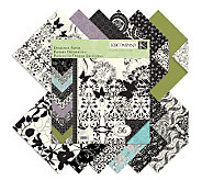 Designer Double-Sided Paper Pad 12 x 12 -Black&Ivory Fusion - F247308