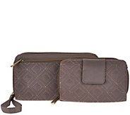 Travelon Quilted RFID Wallet Set - F12009