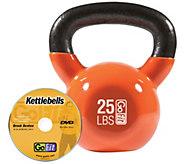 GoFit Kettelbell & Iron Core Training DVD (25 lbs/Orange) - F195410