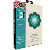 Crafters Edge Flower Fabric Cutting Dies - F250311