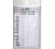 Tim Holtz Acrylic Grid Block Set - 9 Pieces - F247212