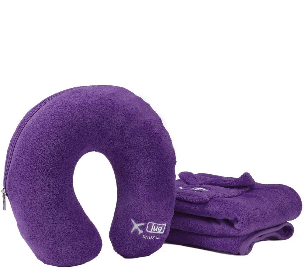 Lug Snuz Sac U Travel Blanket & Pillow Set - Page 1 ? QVC.com